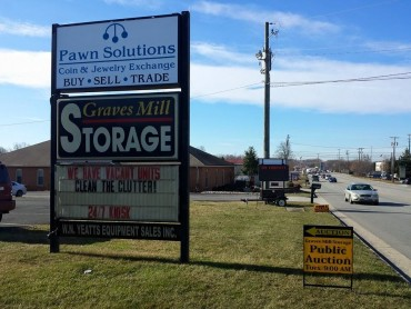 Storage Auction – 9:00 AM – March 17, 2015