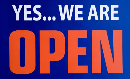 We're still open!!!!